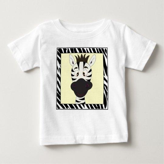Lustiges Zebra-Cartoon-Baby-Shirt Baby T-shirt