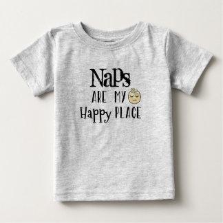 Lustiges Zitat: Nickerchen sind mein glücklicher Baby T-shirt