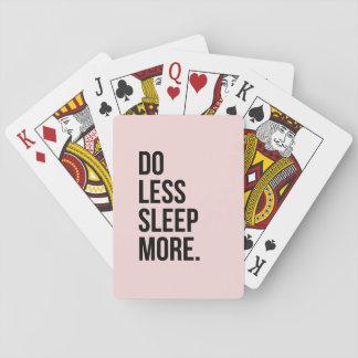 Lustiges Zitat tun weniger inspirierend Antirosa Kartendeck