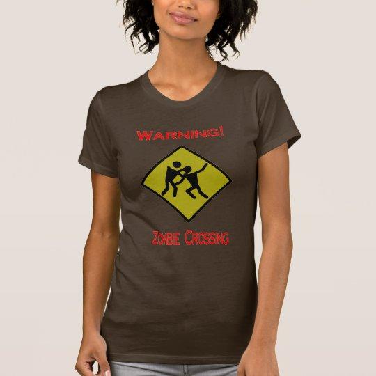 Lustiges Zombie-Überfahrt-Halloween-Party T-Shirt