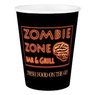 Lustiges Zombie-Zonen-Halloween-Party Pappbecher
