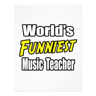 Lustigster die Musik-Lehrer der Welt 21,6 X 27,9 Cm Flyer