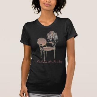 Lustre floral rose vintage de Budoir de Français T-shirt