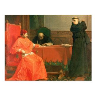 Luther vor Kardinal Cajetan Postkarte