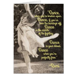 Lutin féerique hippie de féerie de danse vive carte de vœux