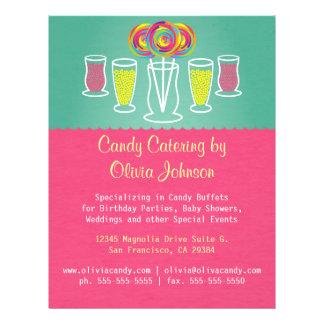 Lutscher-Art-Süßigkeits-Catering-Geschäfts-Flyer 21,6 X 27,9 Cm Flyer