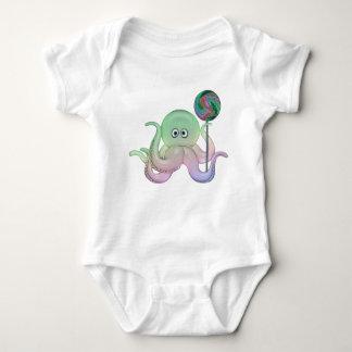 Lutscher-Krake für Kinder u. Baby-T-Shirt Baby Strampler
