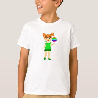 Lutscher-Mädchen-T-Shirt T-Shirt