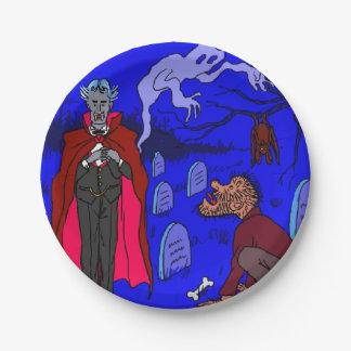 Luv U❤️Luv ich PapierTeller Halloweens