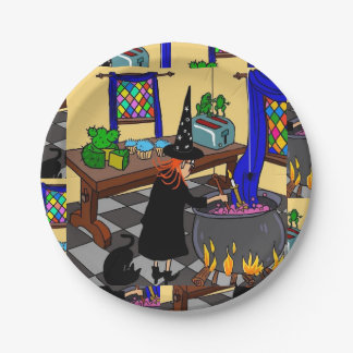 Luv U❤️Luv ich PapierTeller Halloweens Witchy