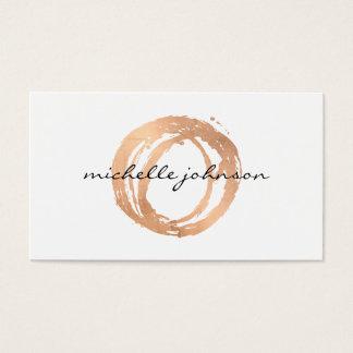 Luxe Imitat-Rosen-Gold gemaltes Visitenkarten
