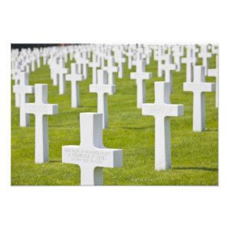 Luxemburg, Hamm. US-Militär-Friedhof Fotodruck