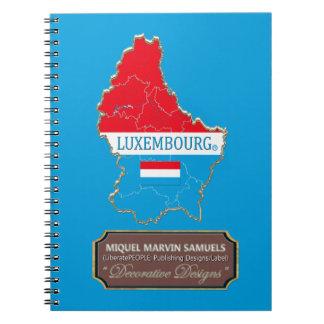 Luxemburg-Landesflagge färbt modernes Notizbuch Notizblock