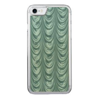 Luxuriöses Aqua mit Rüschen besetztes Satin Carved iPhone 8/7 Hülle