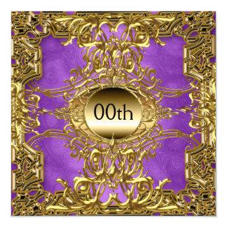 Luxusgold lila irgendein Geburtstags-Party Karte