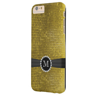 LuxusImitat-GoldPaillettes schwarzes Barely There iPhone 6 Plus Hülle