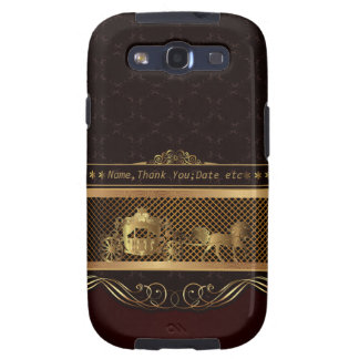 Luxuskasten Hochzeits-goldener Samsung-Galaxie-S3 Samsung Galaxy SIII Hüllen