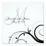Luxusstrudel-Monogramm-Hochzeits-Einladungen