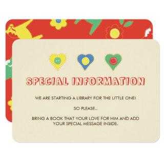 Lycka bis Informations-Einsätze 8,9 X 12,7 Cm Einladungskarte