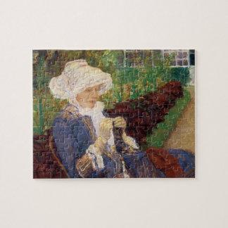 Lydia, der im Garten an mergeligem, Mary Cassatt