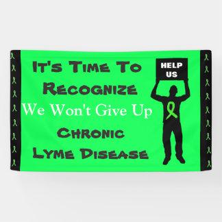 Lyme-Borreliose-Bewusstsein geben wir nicht Fahne Banner