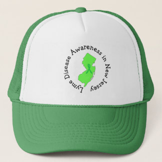 Lyme-Borreliose-Bewusstsein im New-Jersey Band-Hut Netzkappe