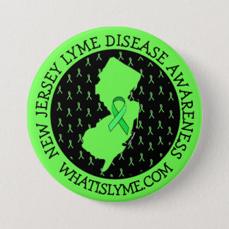 Lyme-Borreliose-Bewusstsein im New-Jersey Runder Button 7,6 Cm