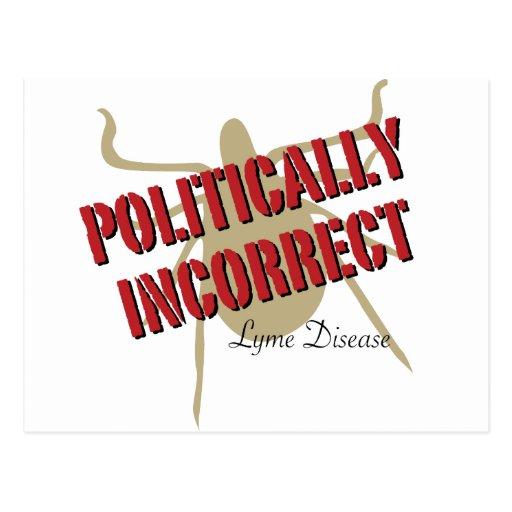 Lyme-Borreliose - politisch falsch Postkarte