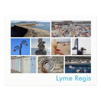 Lyme Regis Multibild Postkarte
