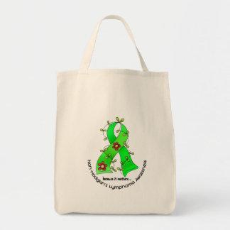 Lymphom-Bewusstsein Non-Hodgkins BLUMEN-BAND 1 Einkaufstasche