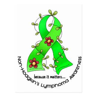 Lymphom-Bewusstsein Non-Hodgkins BLUMEN-BAND 1 Postkarte