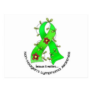 Lymphom-Bewusstsein Non-Hodgkins BLUMEN-BAND 1 Postkarten