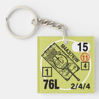 M4A3 (76) W Keychain Fob Schlüsselanhänger