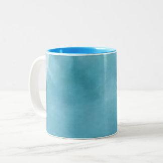 M blue zweifarbige tasse