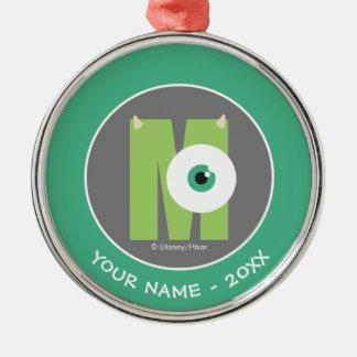 M ist für Mike | addieren Ihren Namen Silbernes Ornament