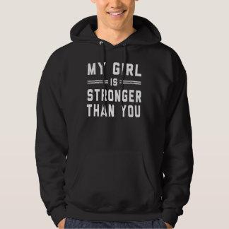 Ma fille est plus forte que vous pull avec capuche
