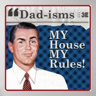 MA maison MON affiche de règles