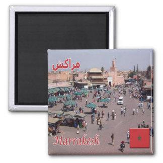 MA - Marokko - Marrakesch Quadratischer Magnet