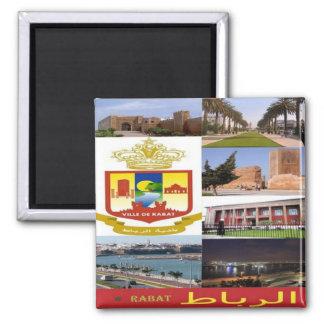 MA - Marokko - Rabat - Collagen-Mosaik Quadratischer Magnet