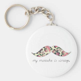 ma moustache est porte - clé vintage porte-clé rond