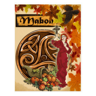 Mabon heidnische Fantasie-Kunst-Postkarte Postkarte