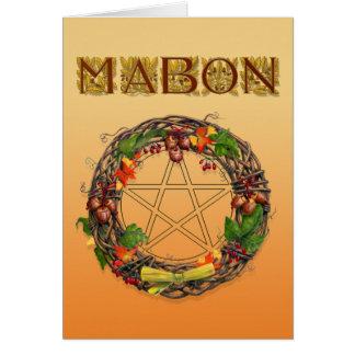 Mabon Kranz mit Eichen-Buchstaben Grußkarte