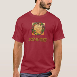 Mabon Kranz mit Eichen-Buchstaben T-Shirt