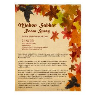 Mabon Raum-Spray-Postkarte Postkarte