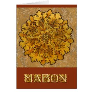 Mabon runde Eiche verlässt Gruppe Mitteilungskarte