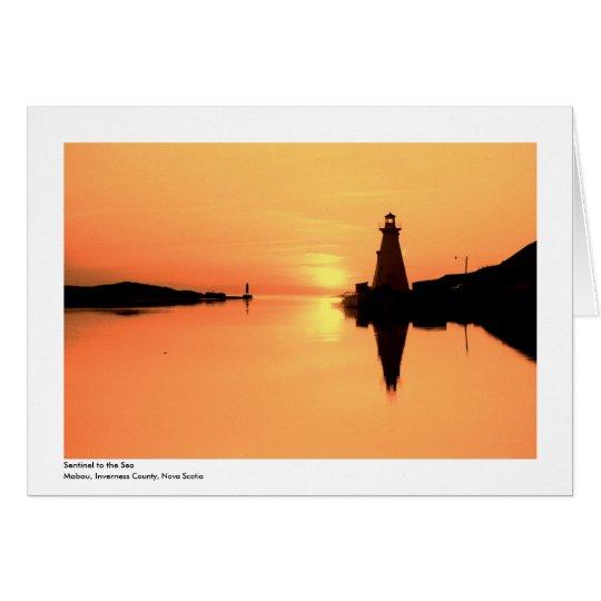 Mabou Hafen-Licht Grußkarte