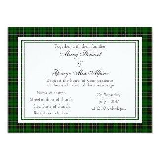 MacAlpine schottische Hochzeits-Einladung Karte