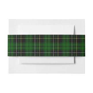 MacAlpine schottisches Tartan-Bauch-Band Einladungsbanderole