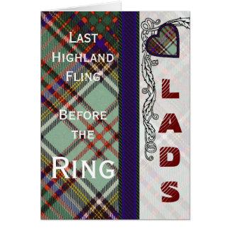 MacAndrew Clan karierter schottischer Kilt Tartan Karte