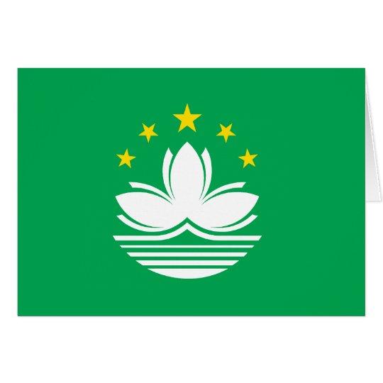 Macao-Flagge Grußkarte